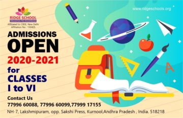 Admissions Opened for Academic Year 2020-2021