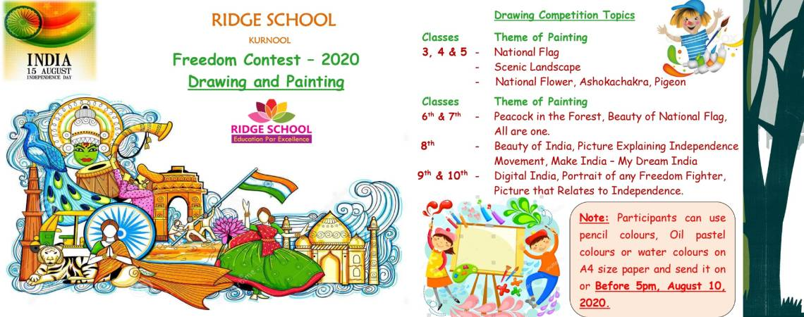 Ridge School Drawing and Painting Freedom contest-2020